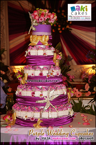Purple Wedding Cupcakes - Maki Cakes