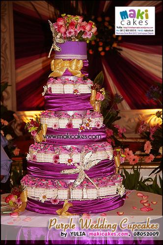Purple Wedding Cupcakes - Maki Cakes