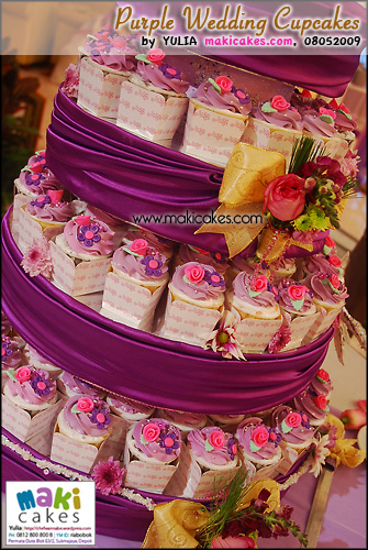 Purple Wedding Cupcakes_ - Maki Cakes