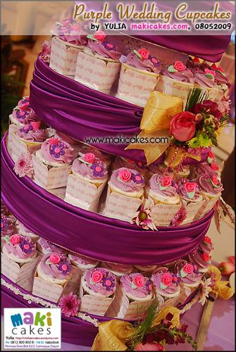 Purple Wedding Cupcakes_ - Maki Cakes