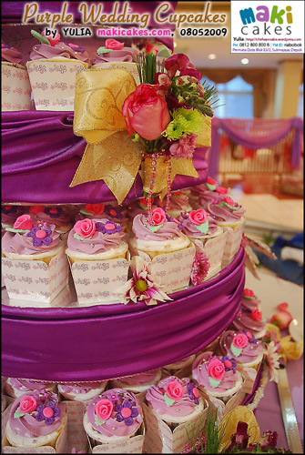 Purple Wedding Cupcakes__ - Maki Cakes