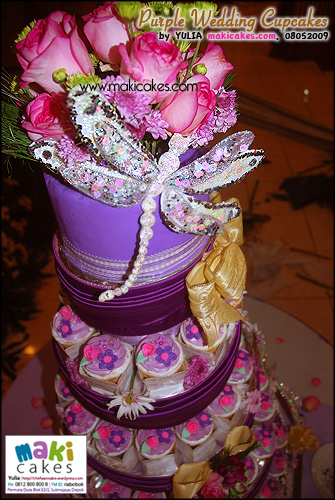 Purple Wedding Cupcakes___ - Maki Cakes