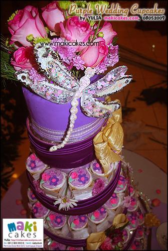 Purple Wedding Cupcakes___ - Maki Cakes