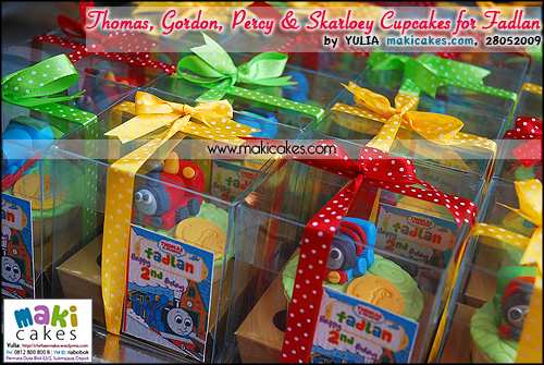 Thomas Gordon Percy & Skarloey Cupcakes for Fadlan - Maki Cakes