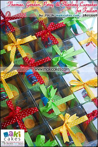 Thomas Gordon Percy & Skarloey Cupcakes for Fadlan_ - Maki Cakes