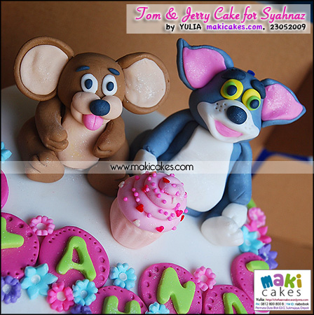 Tom & Jerry Cake for Syahnaz - Maki Cakes