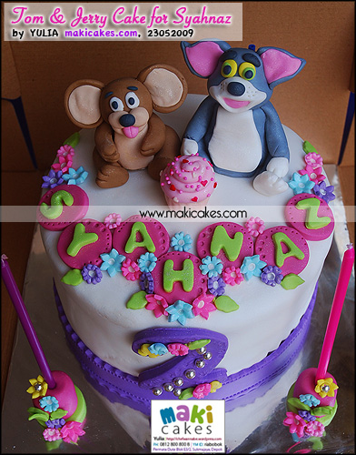 Tom & Jerry Cake for Syahnaz_ - Maki Cakes