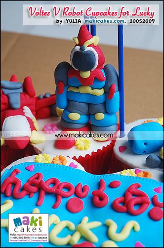 Voltes V Robot Cupcakes for Lucky_ - Maki Cakes