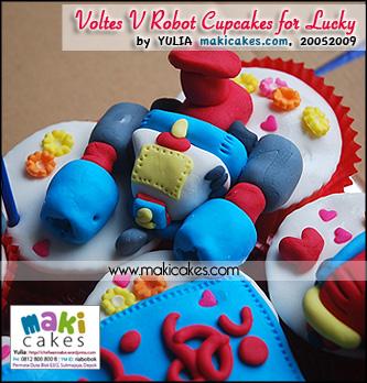 Voltes V Robot Cupcakes for Lucky_V2 - Maki Cakes