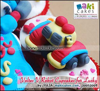 Voltes V Robot Cupcakes for Lucky_V5 - Maki Cakes