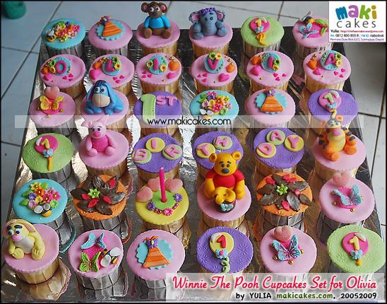 Winnie The Pooh Cupcakes Set for Olivia - Maki Cakes
