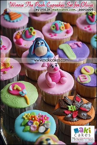 Winnie The Pooh Cupcakes Set for Olivia_ - Maki Cakes