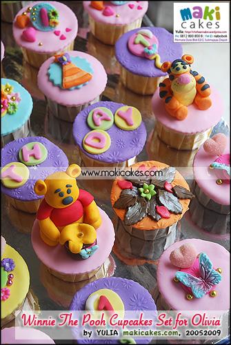 Winnie The Pooh Cupcakes Set for Olivia__ - Maki Cakes