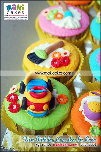 1st Birthday Cupcakes for Raka__ - Maki Cakes