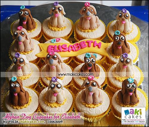 Afghan Dog Cupcakes for Elisabeth - Maki Cakes