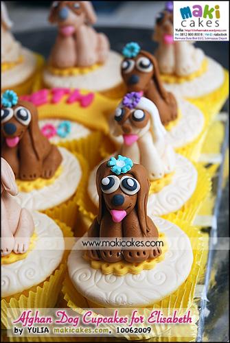 Afghan Dog Cupcakes for Elisabeth_ - Maki Cakes