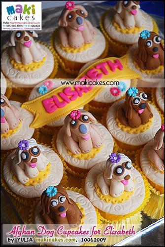 Afghan Dog Cupcakes for Elisabeth__ - Maki Cakes