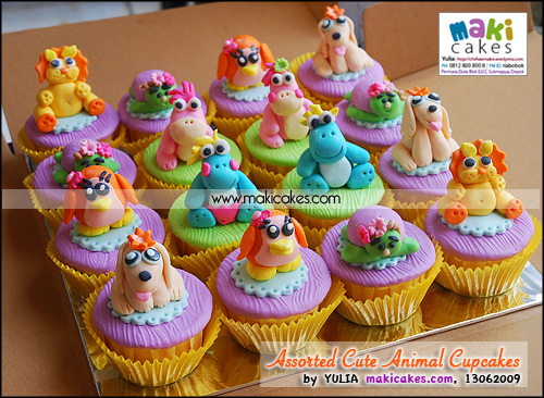 Assorted Cute Animal Cupcakes for Mbak Linda_ - Maki Cakes