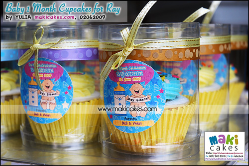 Baby 1 Month Cupcakes for Ray_kemasan tabung - Maki Cakes