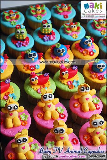 Baby TV Animal Cupcakes - Maki Cakes