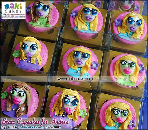 Bratz Cupcakes for Andrea - Maki Cakes