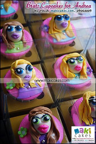 Bratz Cupcakes for Andrea_ - Maki Cakes