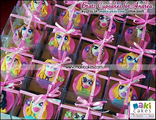 Bratz Cupcakes for Andrea__- Maki Cakes