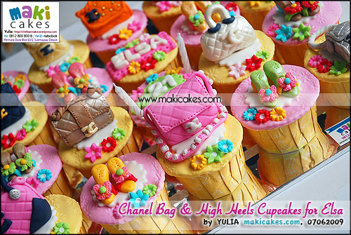 Chanel Bag & High Heels Cupcakes for Elsa - Maki Cakes