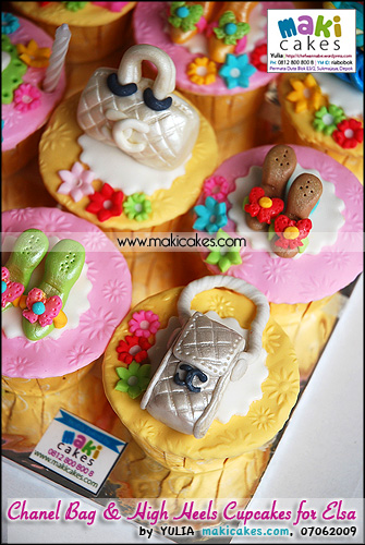 Chanel Bag & High Heels Cupcakes for Elsa__ - Maki Cakes