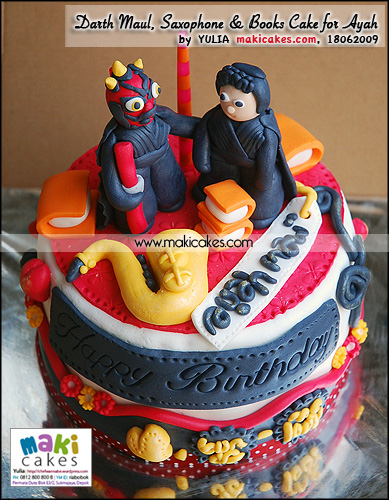 Darth Maul _ Saxophone _ Books Cake for Ayah - Maki Cakes
