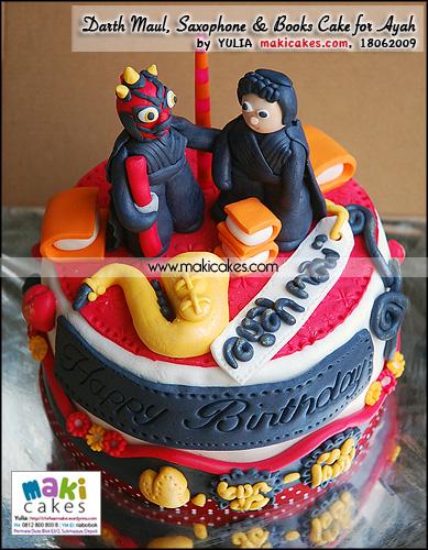 Darth Maul _ Saxophone _ Books Cake for Ayah - Maki Cakes