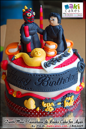 Darth Maul _ Saxophone _ Books Cake for Ayah_ - Maki Cakes
