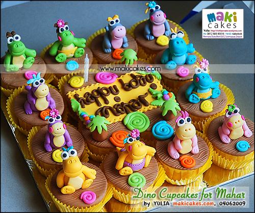 Dino Cupcakes for Mahar - Maki Cakes