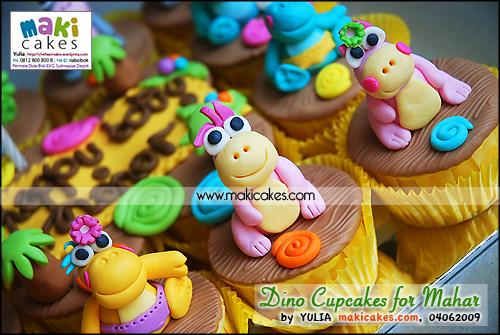 Dino Cupcakes for Mahar_ - Maki Cakes