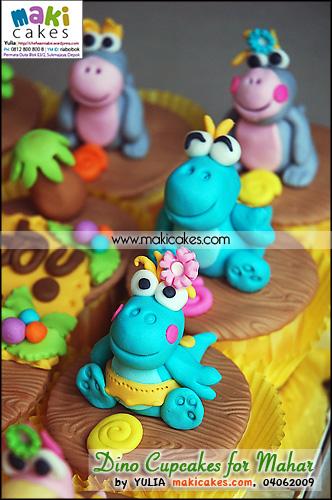 Dino Cupcakes for Mahar__ - Maki Cakes