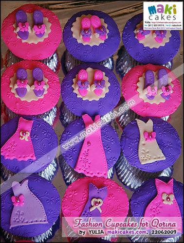 Fashion Cupcakes for Qorina - Maki Cakes