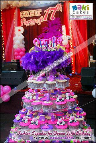 Fashion Cupcakes for Qorina Sweet Seventeen Birthday- Maki Cakes