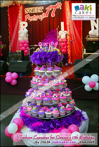 Fashion Cupcakes for Qorina Sweet Seventeen Birthday_- Maki Cakes