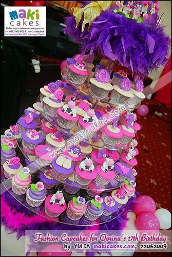 Fashion Cupcakes for Qorina Sweet Seventeen Birthday__- Maki Cakes