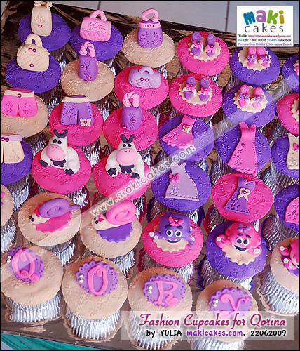 Fashion Cupcakes Set for Qorina - Maki Cakes