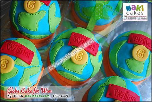 Globe _ Earth Cake for Wim - Maki Cakes