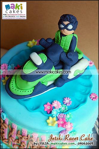 Jetski Racer Cake - Maki Cakes