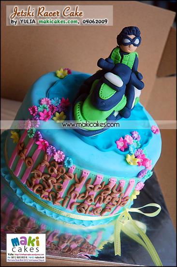 Jetski Racer Cake_ - Maki Cakes