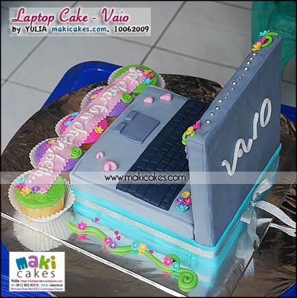 Laptop Cake _ Viao__ - Maki Cakes