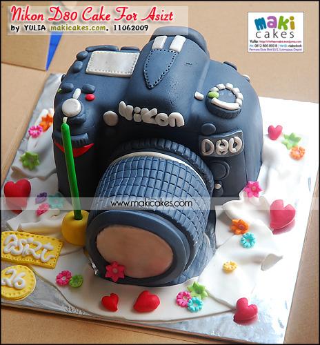 Nikon D80 Cake for Asizt - Maki Cakes