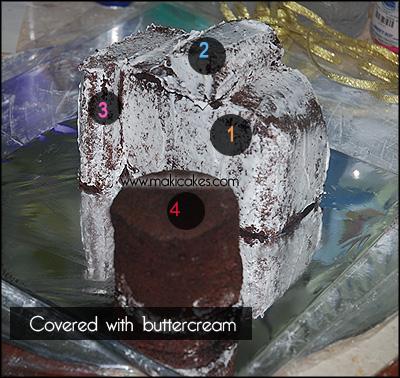 Nikon D80 Camera Cake - How To 2 - Maki Cakes