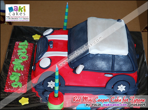 Red Mini Cooper Cake for Tyrone__ - Maki Cakes