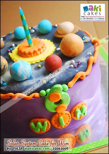 Solar System _ Planet Cake for Wim - Maki Cakes