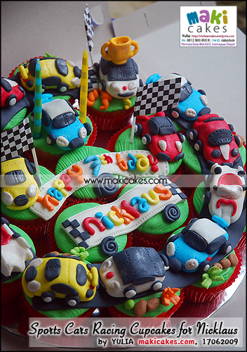 Sports Cars Racing Cupcakes for Nicklaus_ - Maki Cakes
