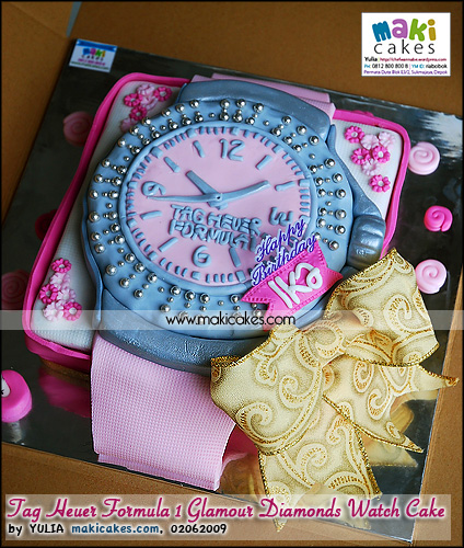Tag Heuer Formula 1 Glamour Diamonds Watch Cake  - Maki Cakes